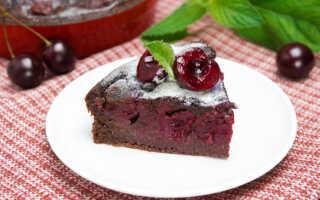 Как приготовить шоколадный пирог с вишней (3 пошаговых рецепта с фото)