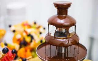 Какой шоколад нужен для шоколадного фонтана, как его приготовить