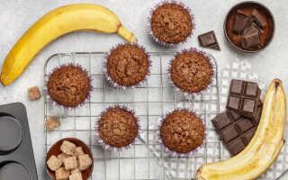 Рецепт — как приготовить маффины с бананом и шоколадом