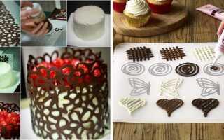 Как своими руками сделать бабочку из шоколада на торт по трафарету