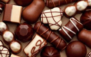 Сколько калорий содержится в одной шоколадной конфете (в 1 шт.)