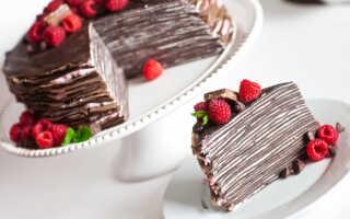 Как приготовить шоколадный блинный торт (15 пошаговых рецептов с фото)
