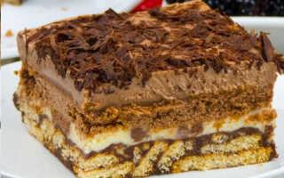 Как приготовить шоколадный торт из печенья без выпечки (12 рецептов с фото)
