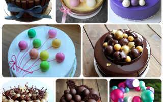 Как сделать шоколадные шарики своими руками для украшения торта