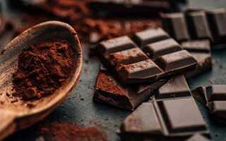 Горький шоколад: калорийность (сколько калорий на 100 грамм), состав по ГОСТу
