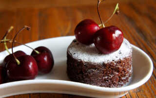 Как приготовить шоколадные маффины с вишней (рецепт с фото)