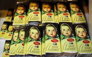 Сколько калорий в шоколаде «Аленка» (калорийность в 1 дольке, на 100 г)
