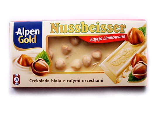 "Шоколад ""Alpen Gold"" - белый с орешками"