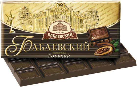 Бабаевский горький шоколад