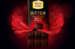 Горький шоколад Alpen Gold Bitter 70%