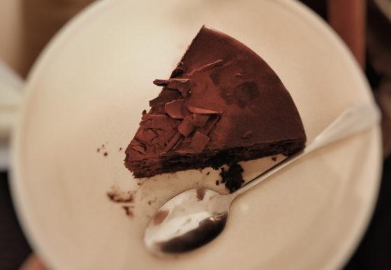 Кусочек шоколадного пирога