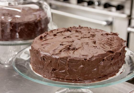 Постный торт с шоколадом