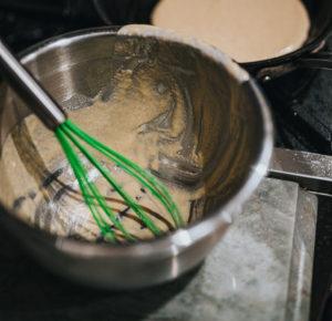 Приготовление апельсиново шоколадного пирога