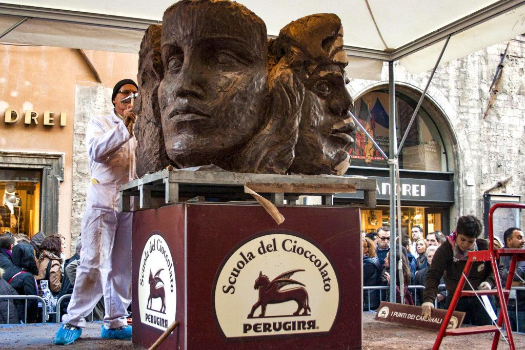 фестивальт шоколада в Перудже