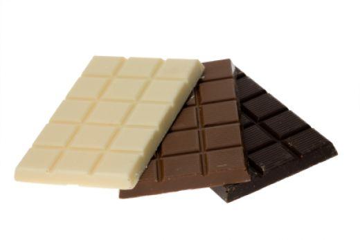 3 вида шоколада: белый, молочный и черный