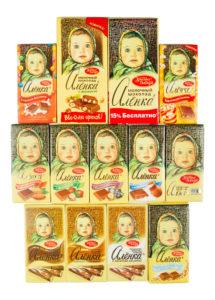 """Шоколад """"Аленка"""" с разными добавлениямии"""