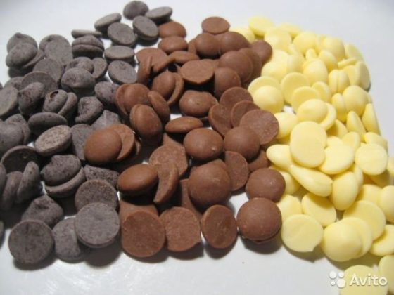Дропсы для шоколадного фонтана