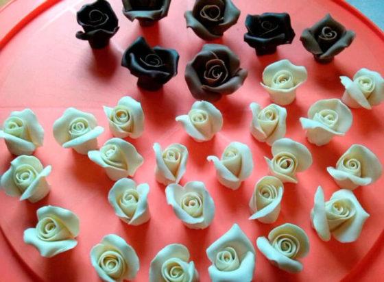 Фигурки из пластичного шоколада