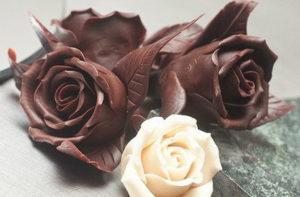 Как создавать шоколадные цветы