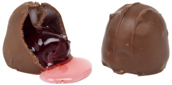 Конфеты вишня в шоколаде