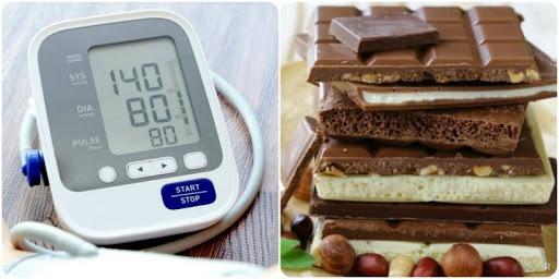 Повышает или понижает шоколад давление