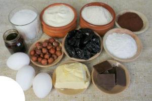 Приготовление торта чернослив в шоколаде