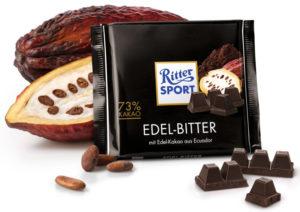 Ritter Sport элитный горький шоколад