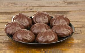 Сколько калорий в зефире в шоколаде