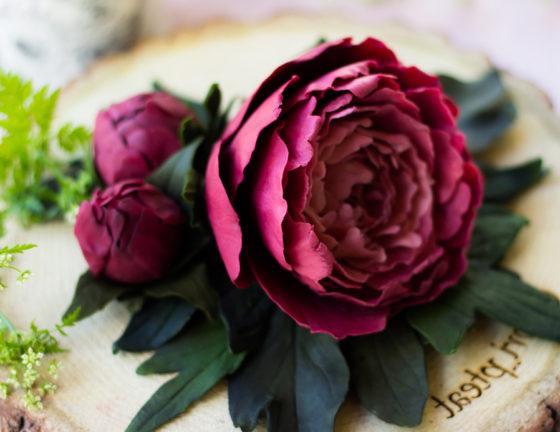 Цветы съедобные из шоколада