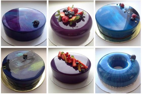 Зеркальная глазурь для покрытия торта