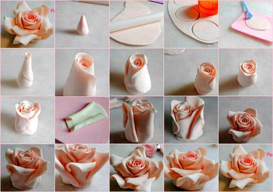 Как сделать цветок из шоколада для торта