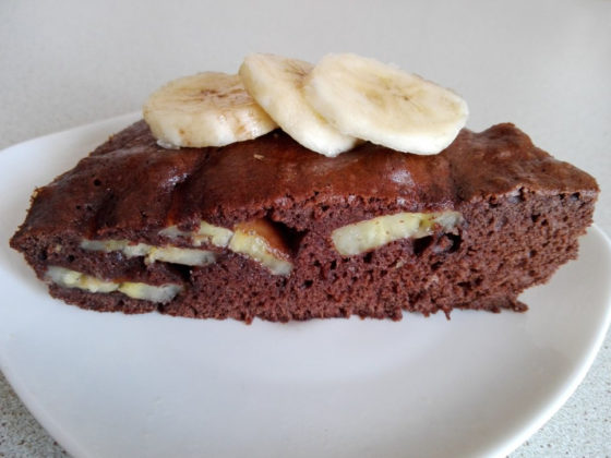 Пирог с шоколадом и бананом