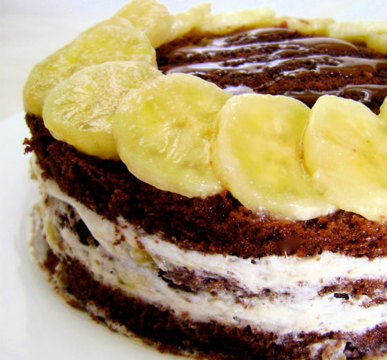 Торт с бананом и шоколадом