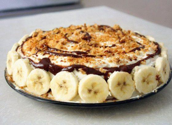 Вкусный бананово-шоколадный торт