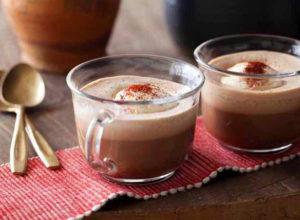 Как подавать горячий шоколад