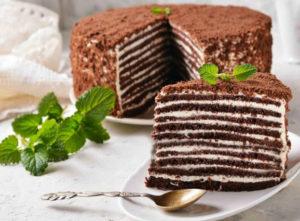 Приготовление шоколадно-медового торта