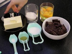 Процесс приготовления брауни
