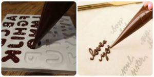 Шоколадные буквы для надписи