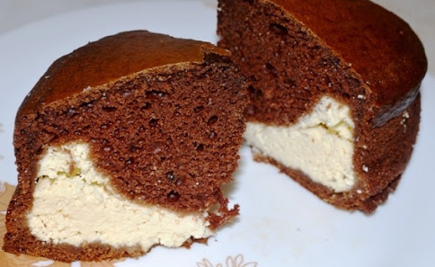 Вкусный творожно-шоколадный пирог