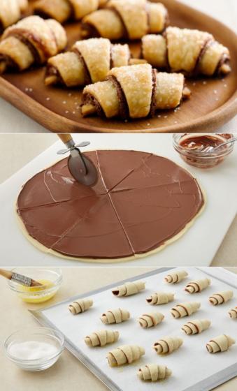Как делать шоколадные круассаны