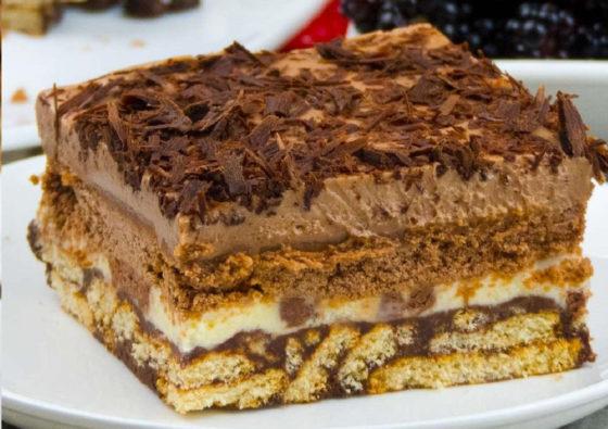 Как составить торт из печенья без выпечки
