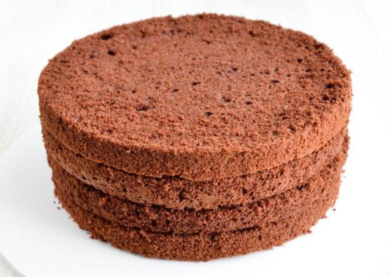 Коржи торта на кипятке