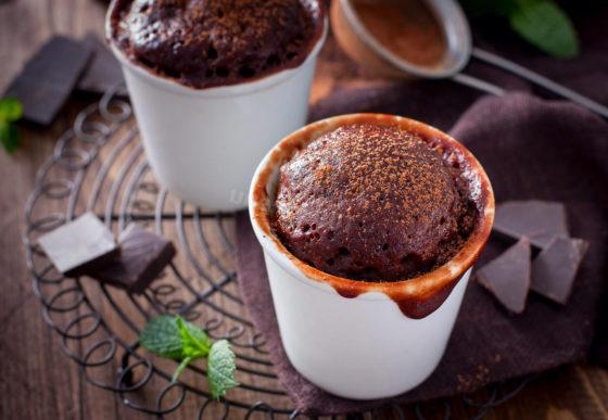 Шоколадное суфле в микроволновке