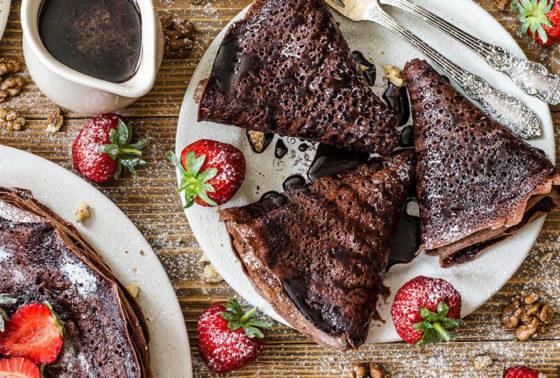 Шоколадные блинчики с начинкой рецепт