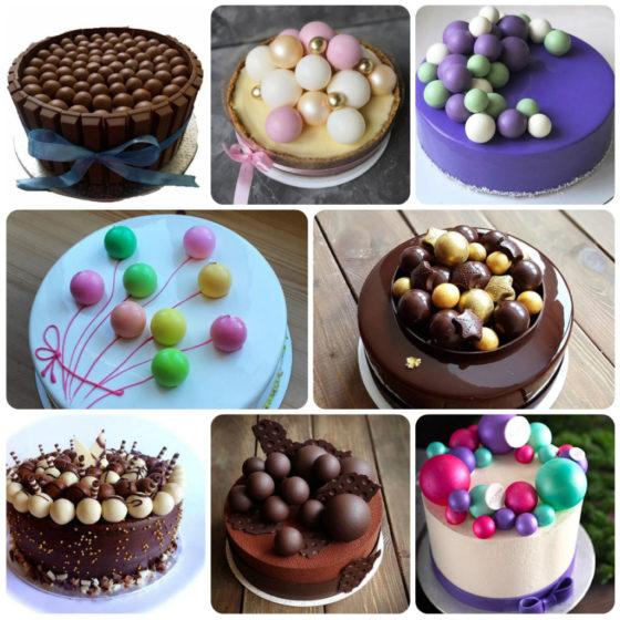 Шоколадные шарики для торта