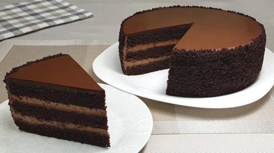 Шоколадный бархат с кремом