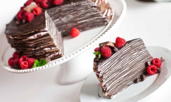 Блинно-шоколадный торт