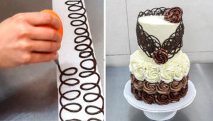 Как делать украшения из шоколада