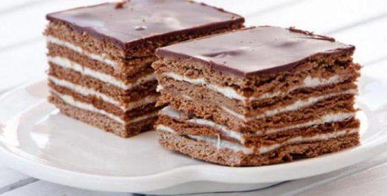 Медовый торт Спартак с шоколадом