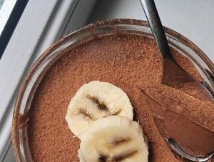 Шоколадный мусс банановый без яиц